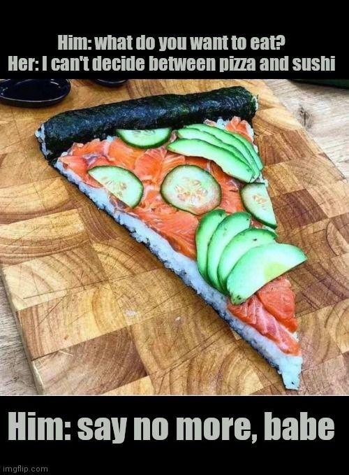 Pan crust salmon roll