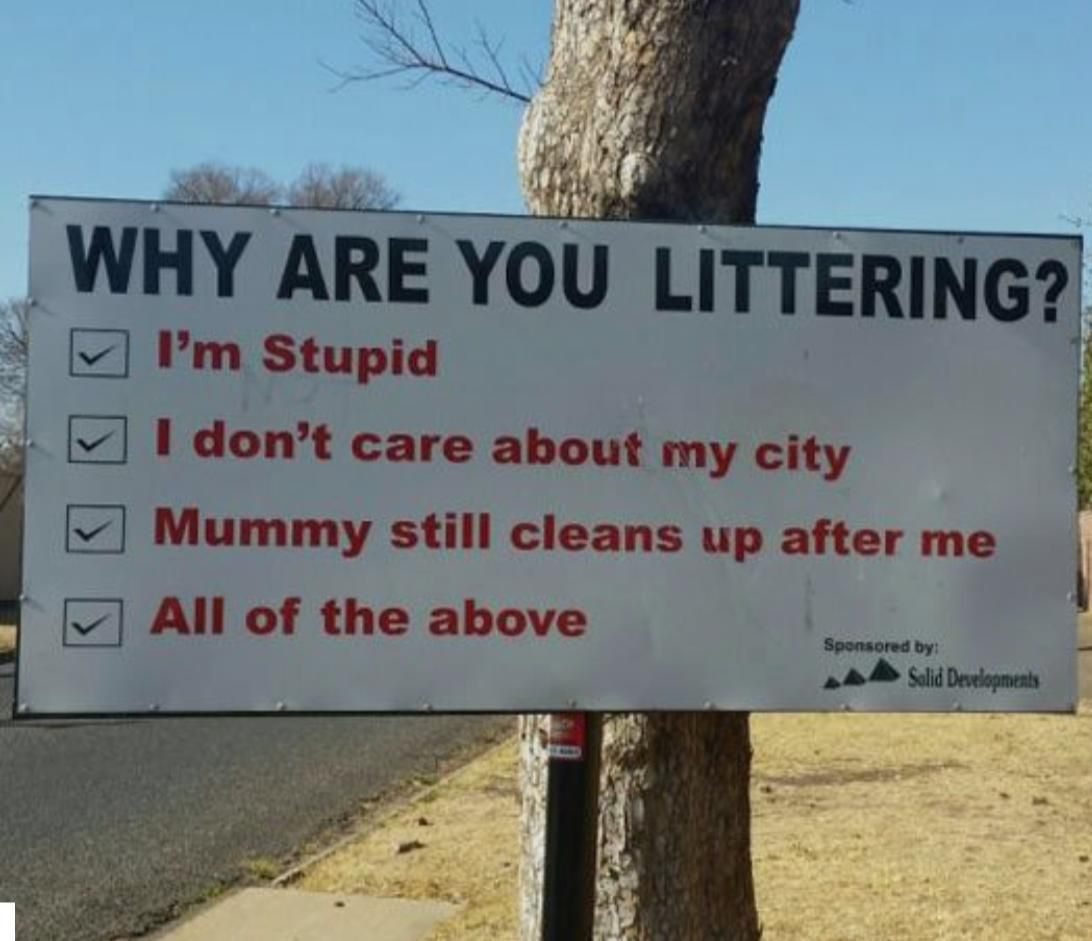 The Best way to stop littering