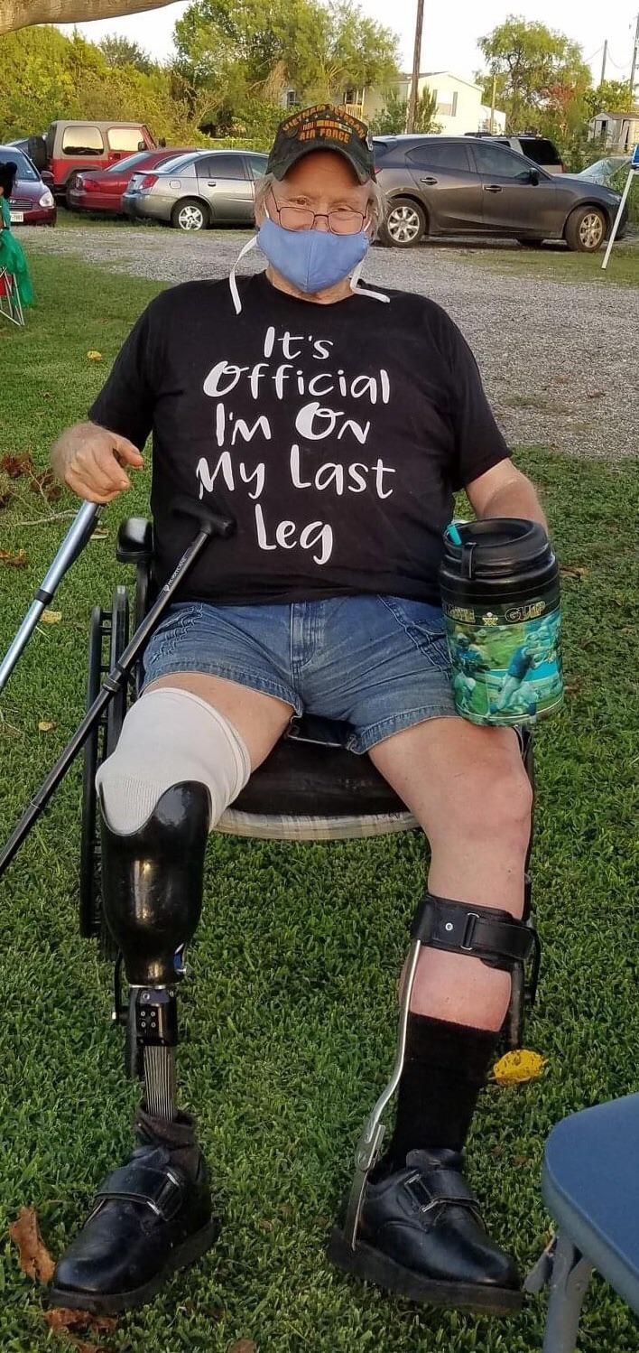 Military veteran buddy of ours has a great sense of humor.