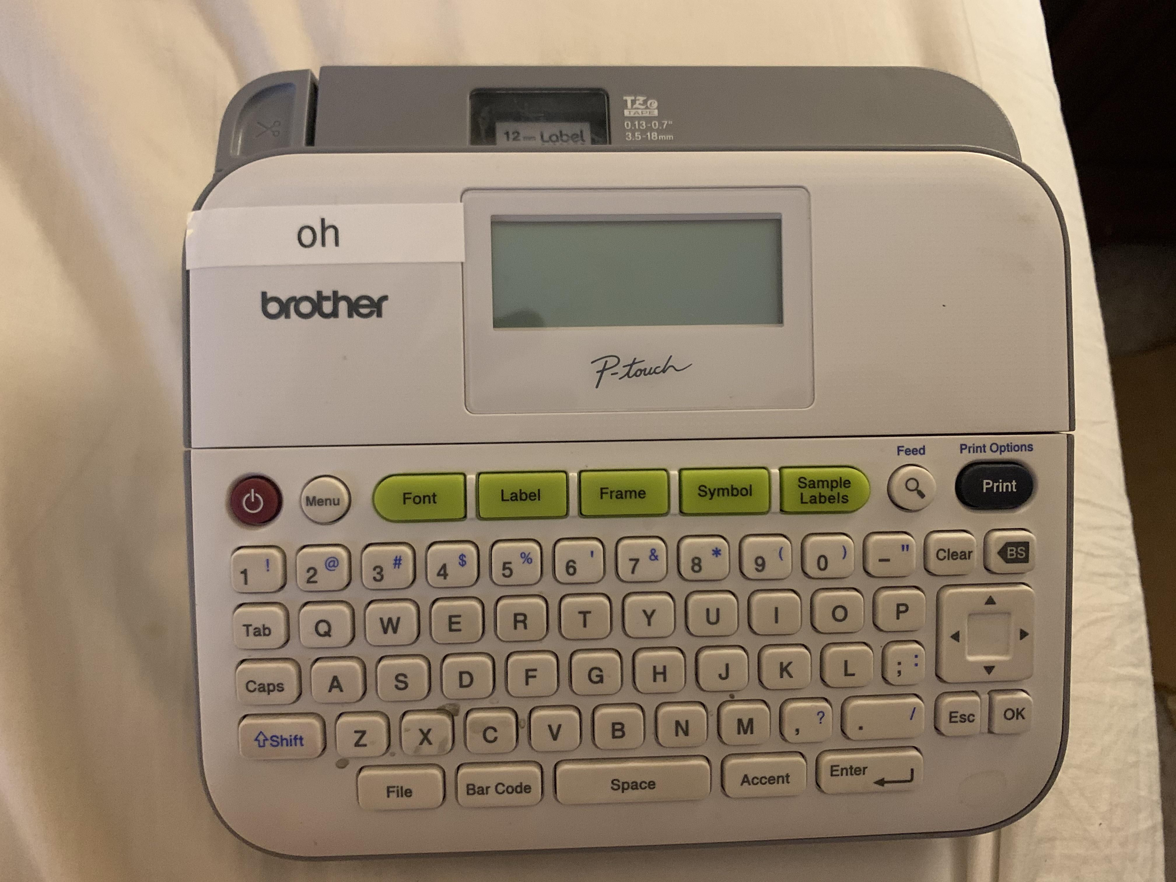 Apparently my kids got ahold of my label maker