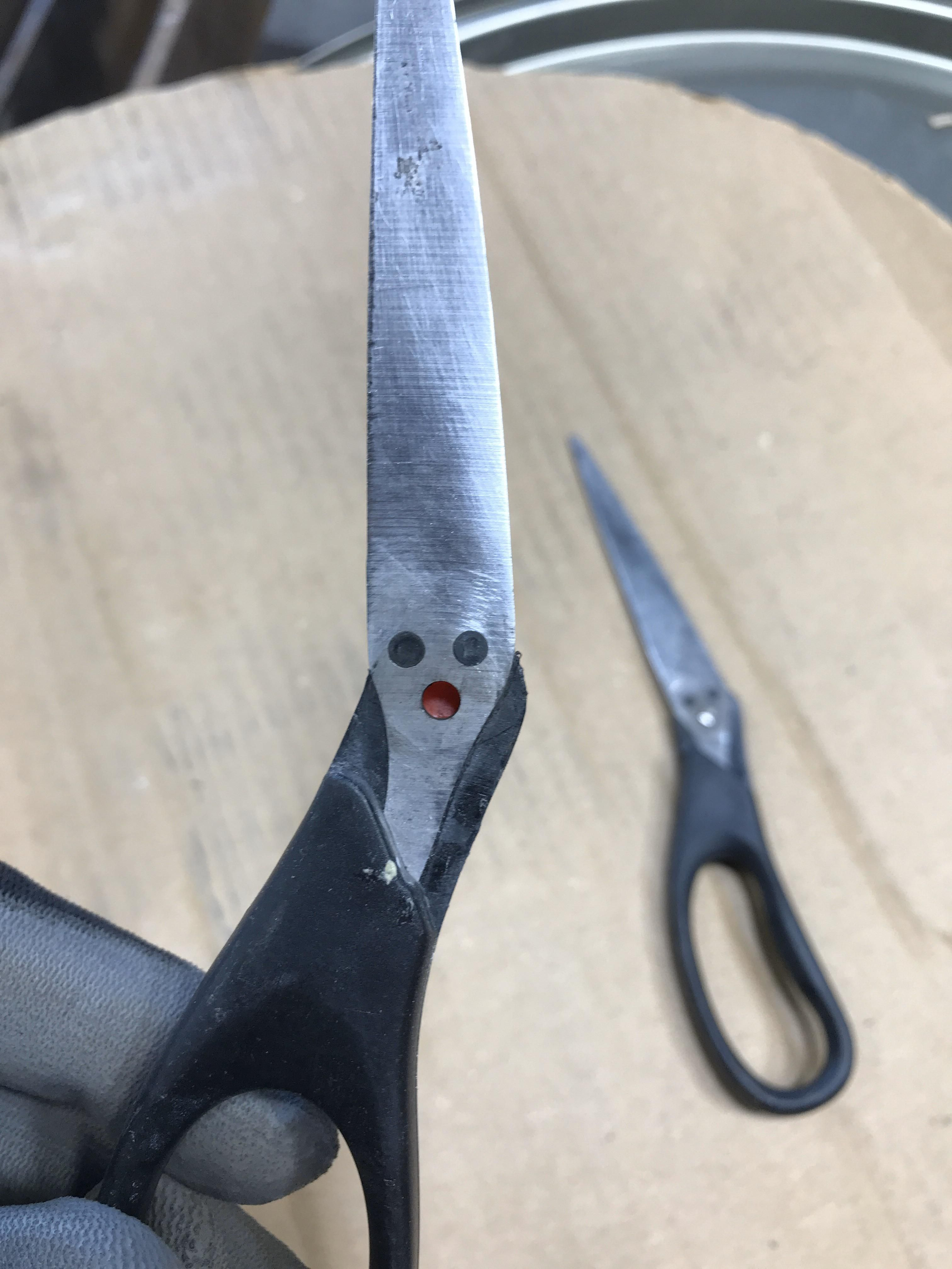 My scissors broke. They were just as surprised as I was.