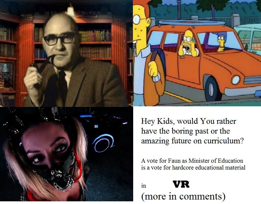 As Minister of (Sex) Education I will bring the real stuff not just some fairy softcore material