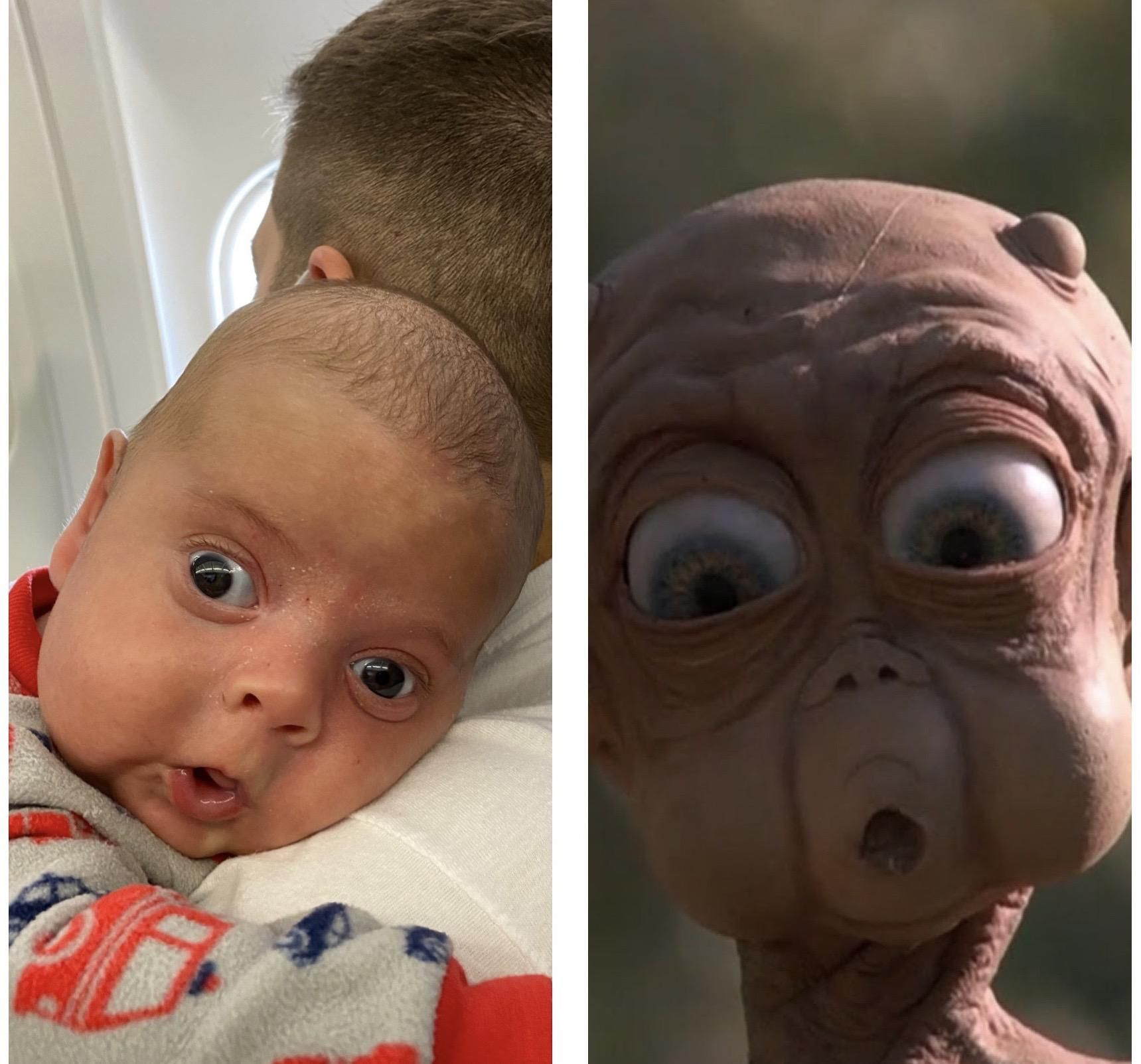 Finally realized where I recognized my son's surprised face from!