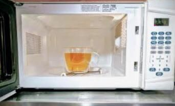 Quick. While all the Brits are asleep. Microwaving tea.