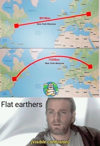 Confused Flat Earthers