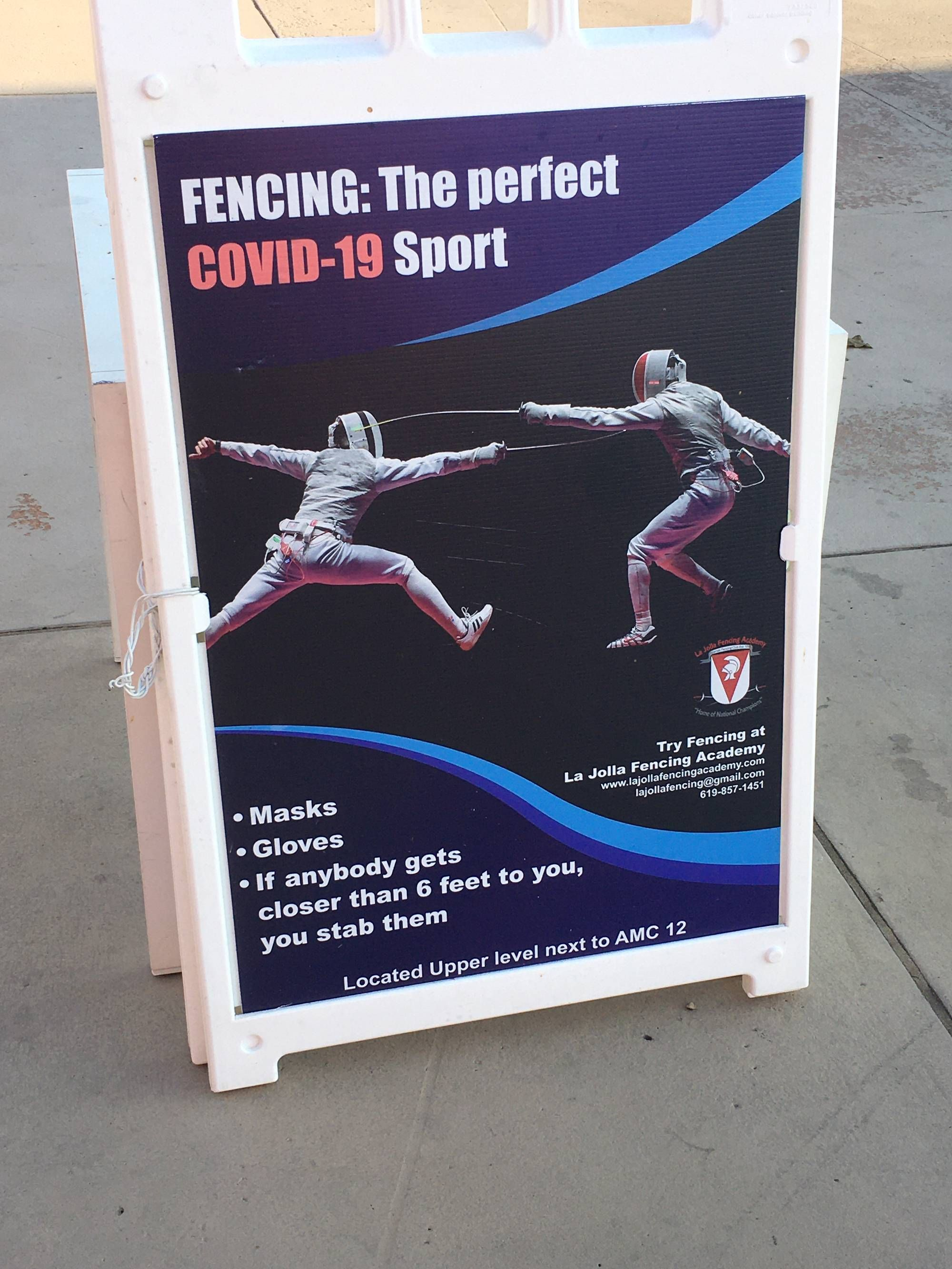 I'm convinced to learn fencing