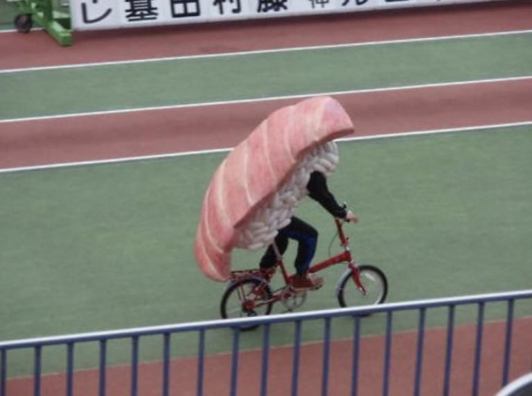 Sashimi rollin, they hating...