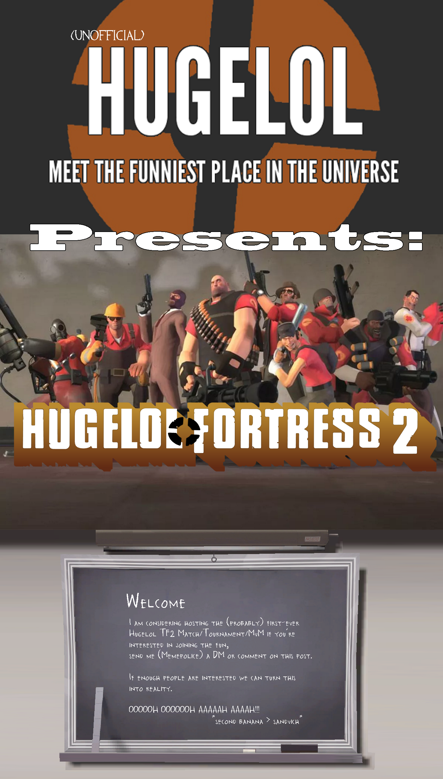 Hugelol Team Fortress Tournament coming soon