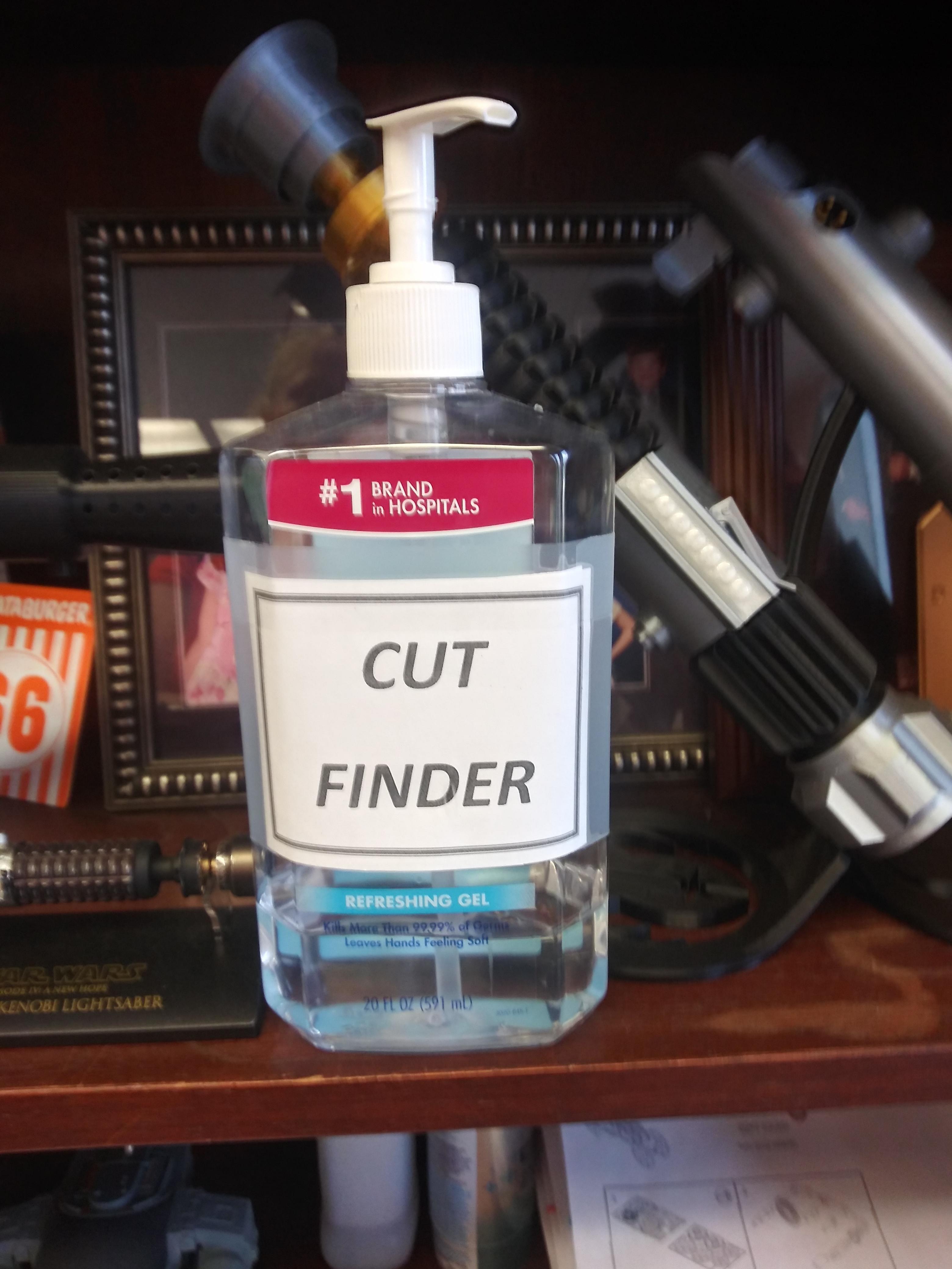 Hand sanitizer found at my chiropractor's office.