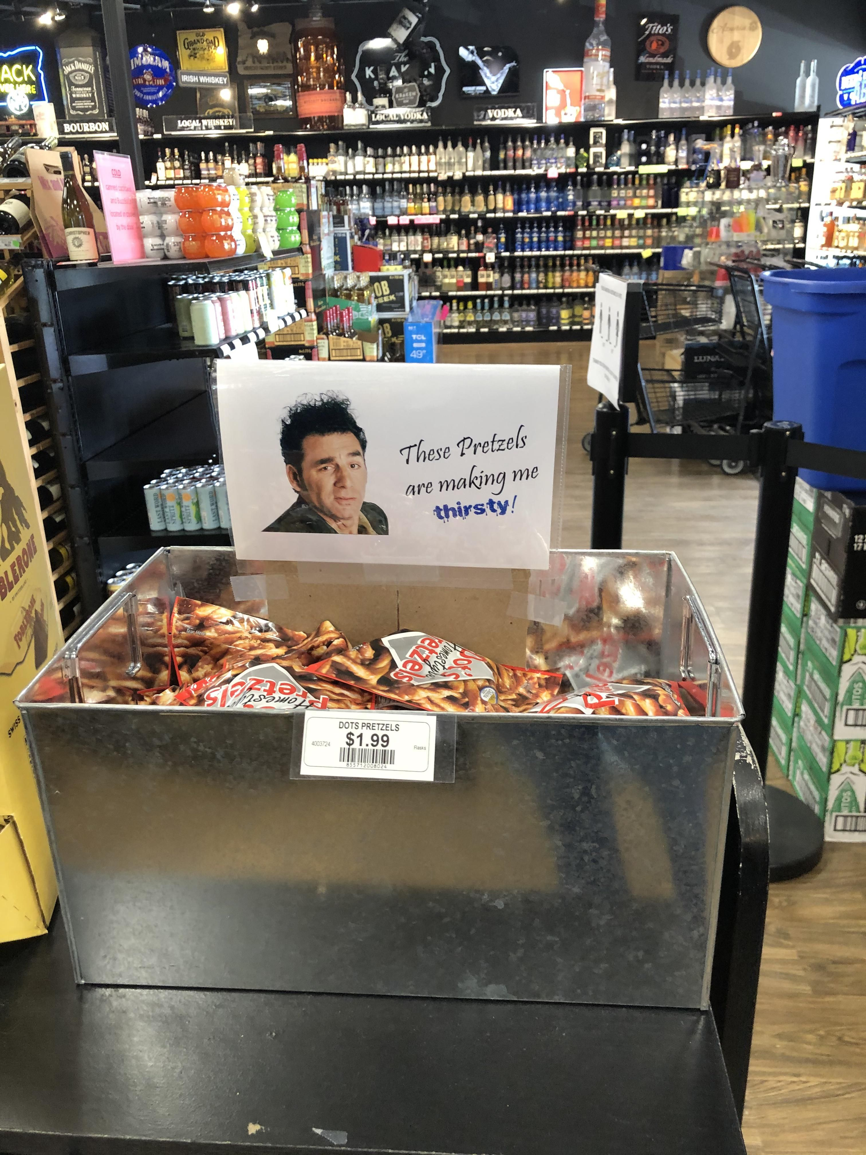 Sign found at my local liquor store.