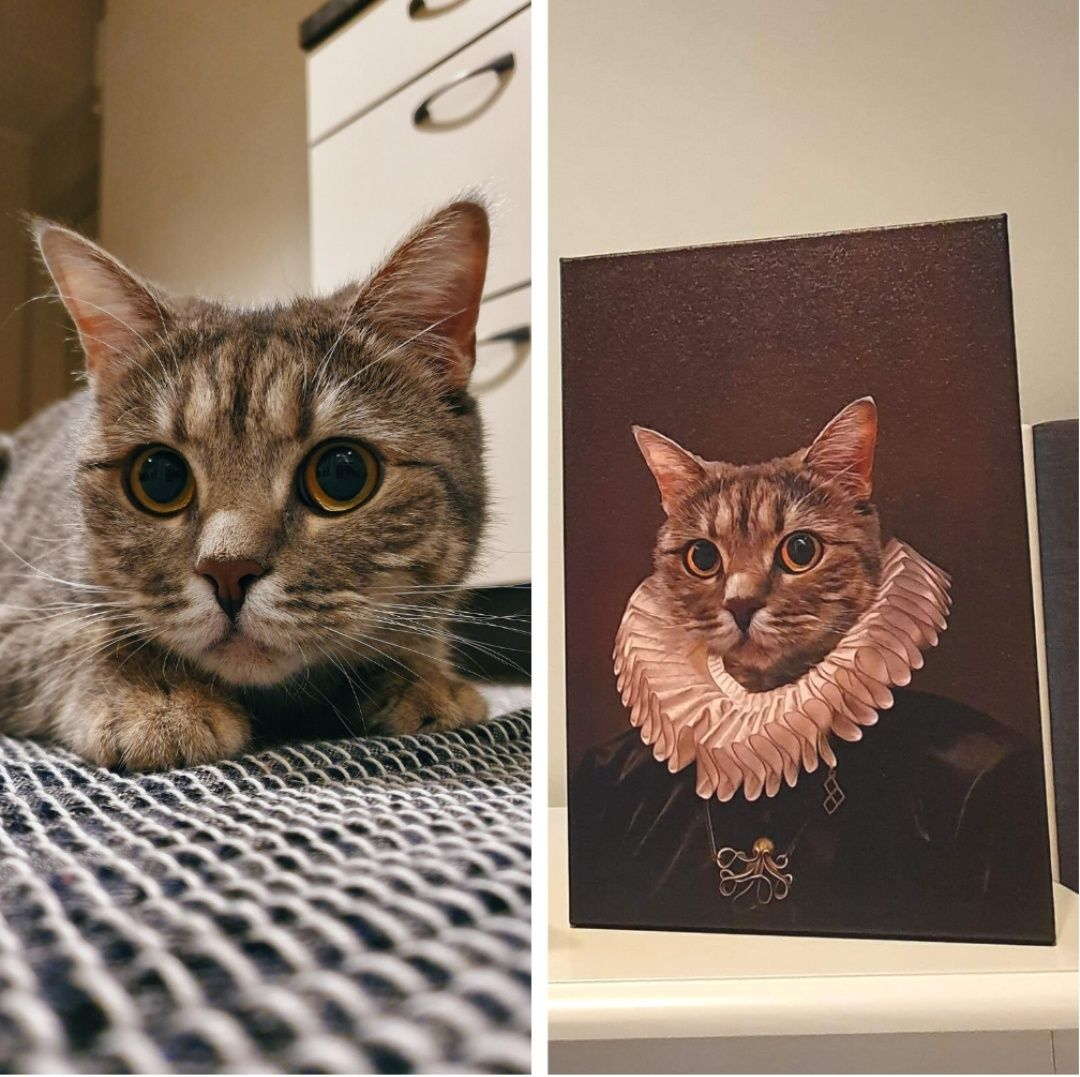 My grandma just texted me a portrait she got of her cat