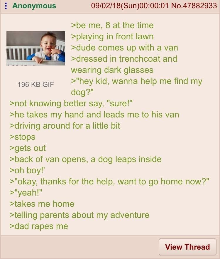 Anon finds a dog
