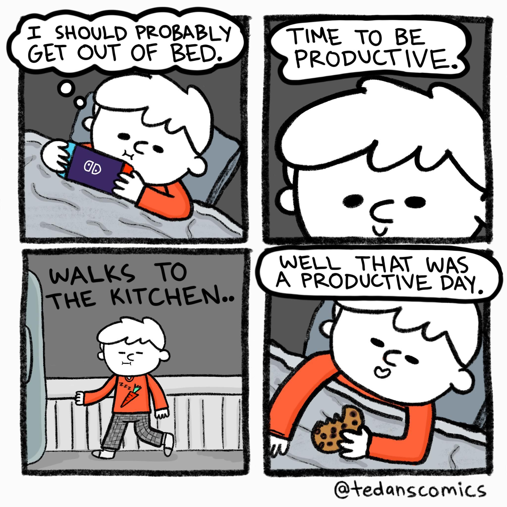 A comic about productivity