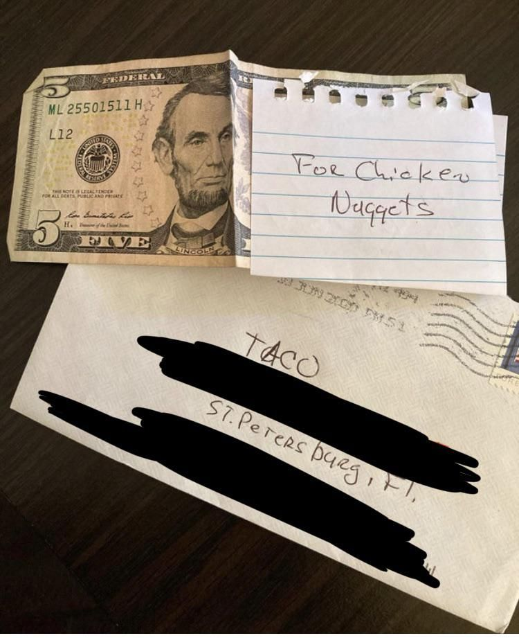 My dad mails my dog $ and giftcards on the regular. Lol.