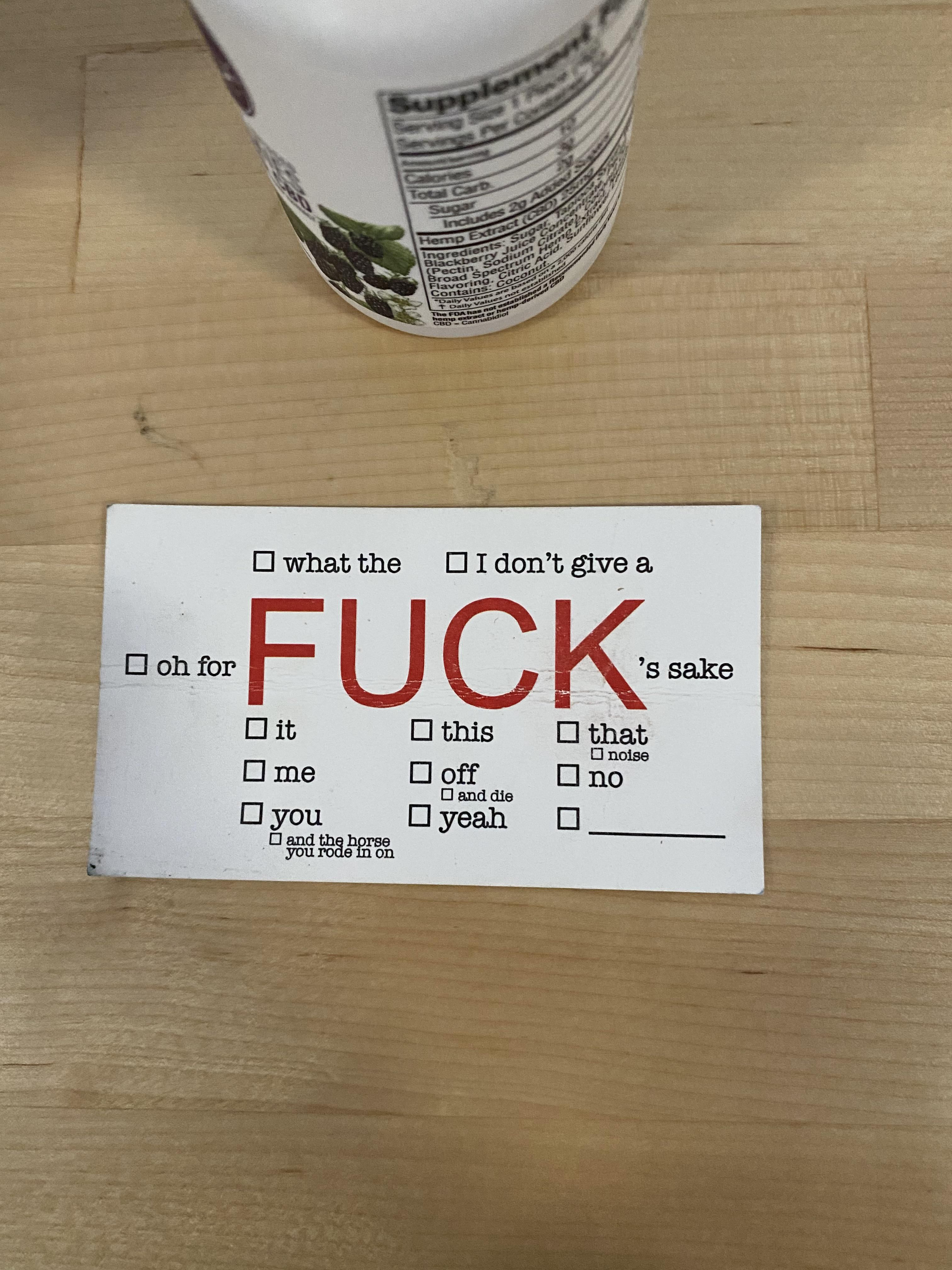 Found on my break room table at work