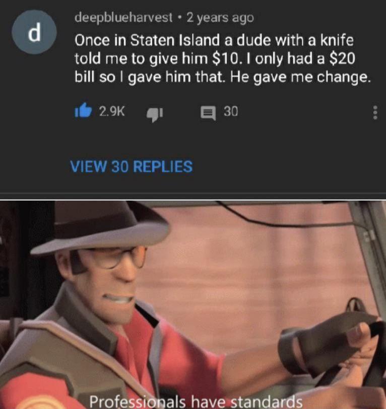 He's just legitimate