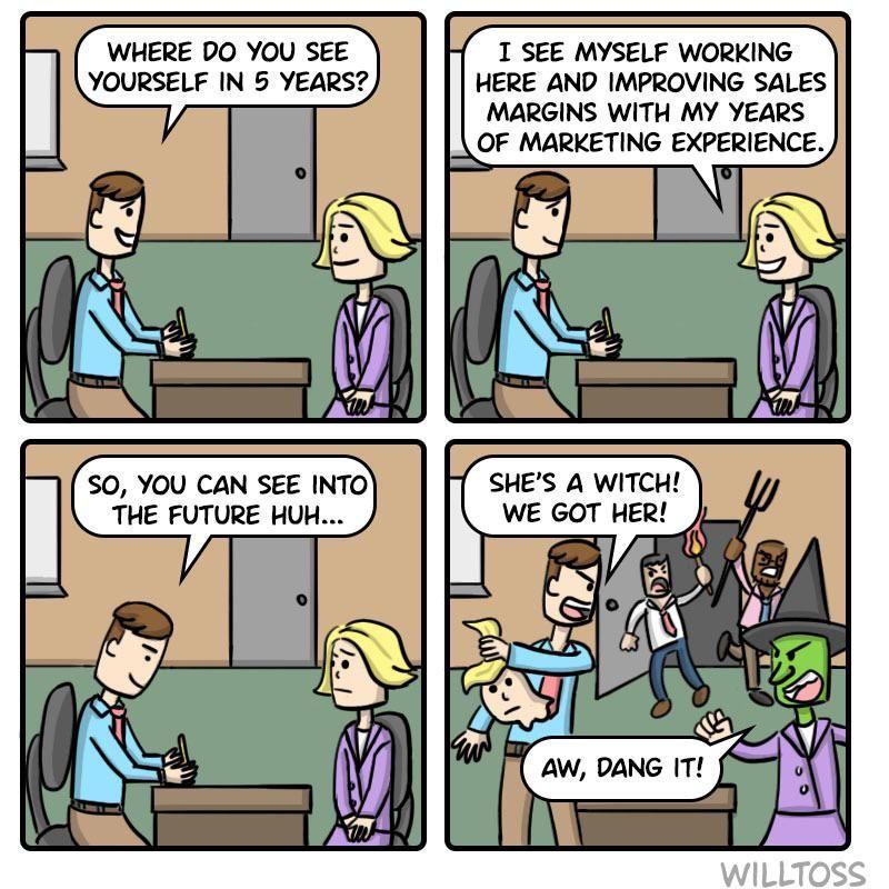 Surprise job interview