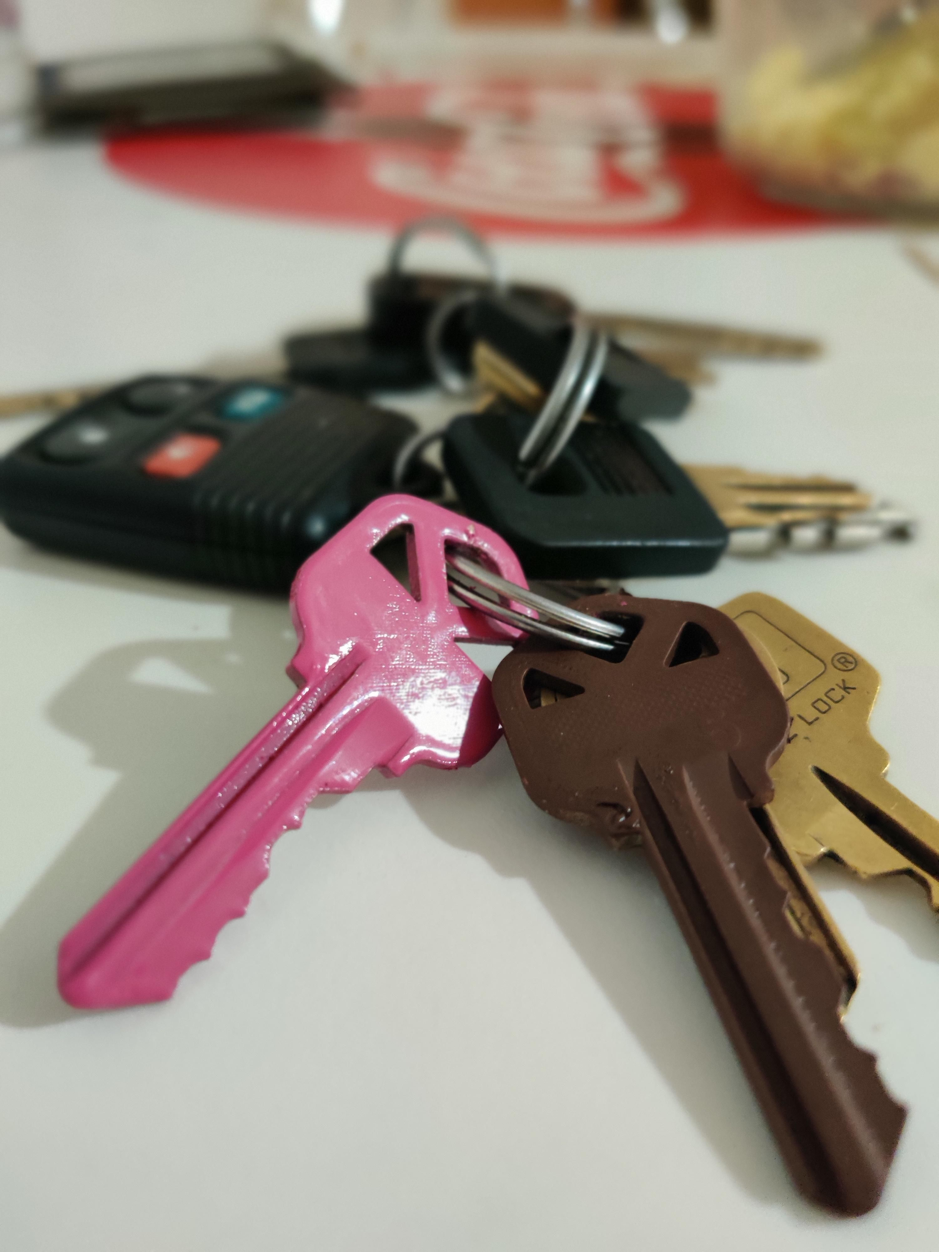Finally... I can keep my front and back door keys straight.
