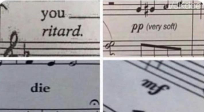 Music sheet has been quite offensive lately.