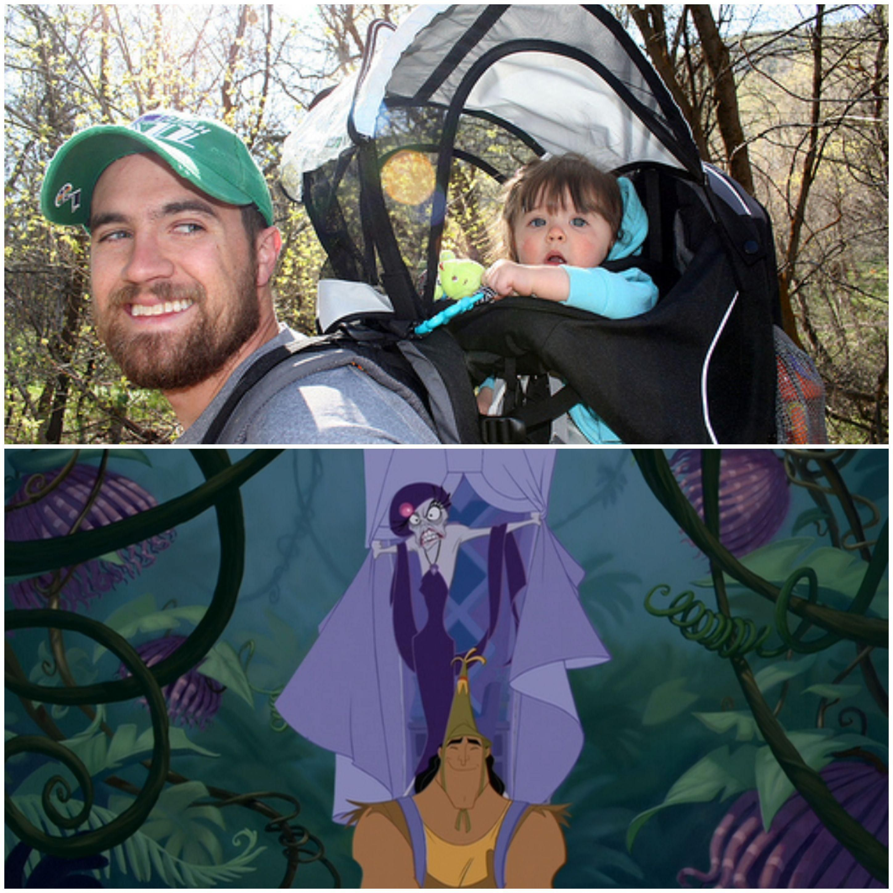 Seeing these baby carriers while hiking lately always brings to mind...