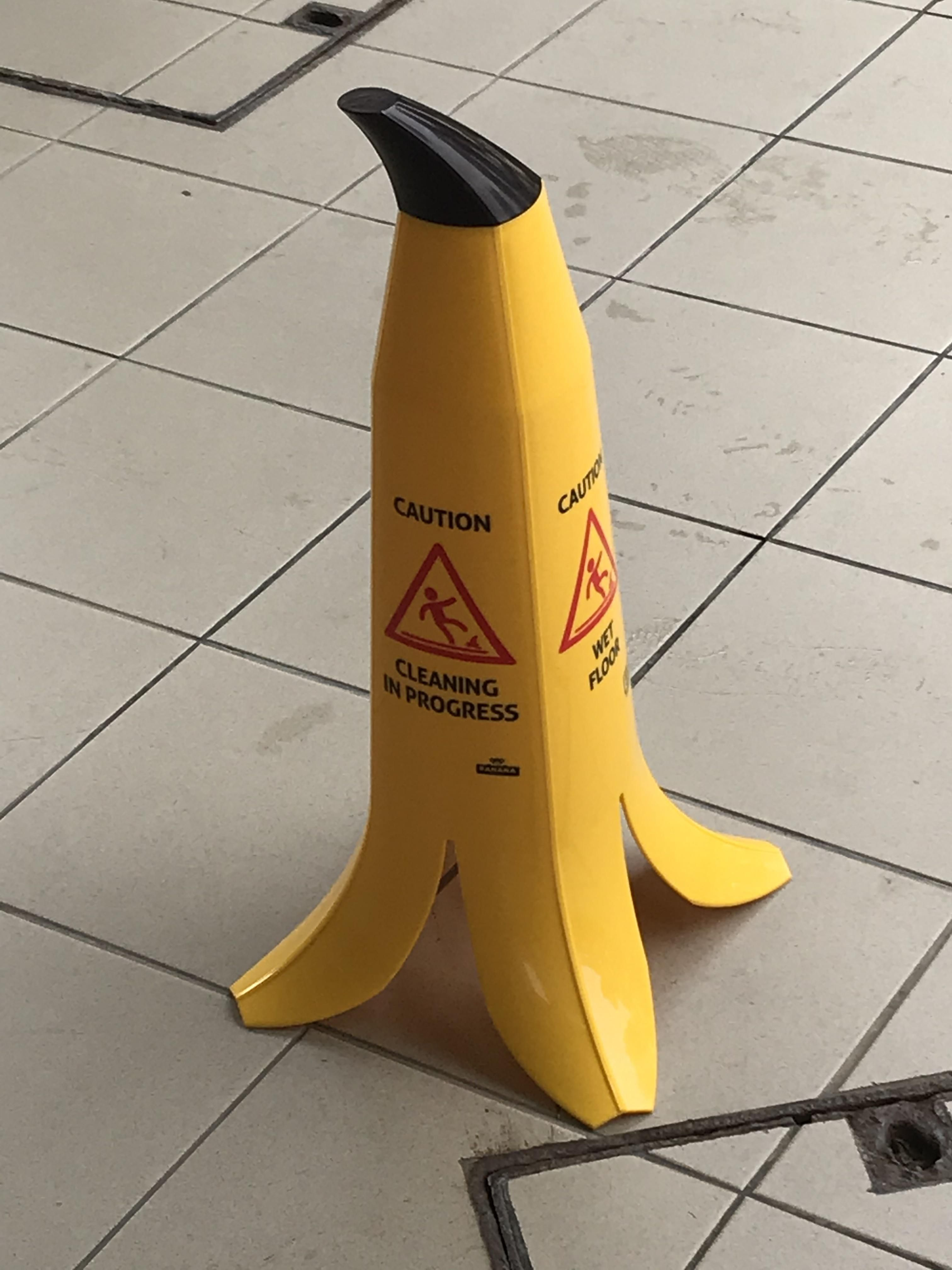 Watch out for the banana peel!