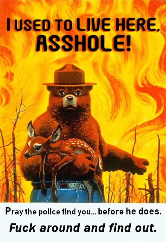 Wow, these new Smokey the Bear posters aren't messing around.