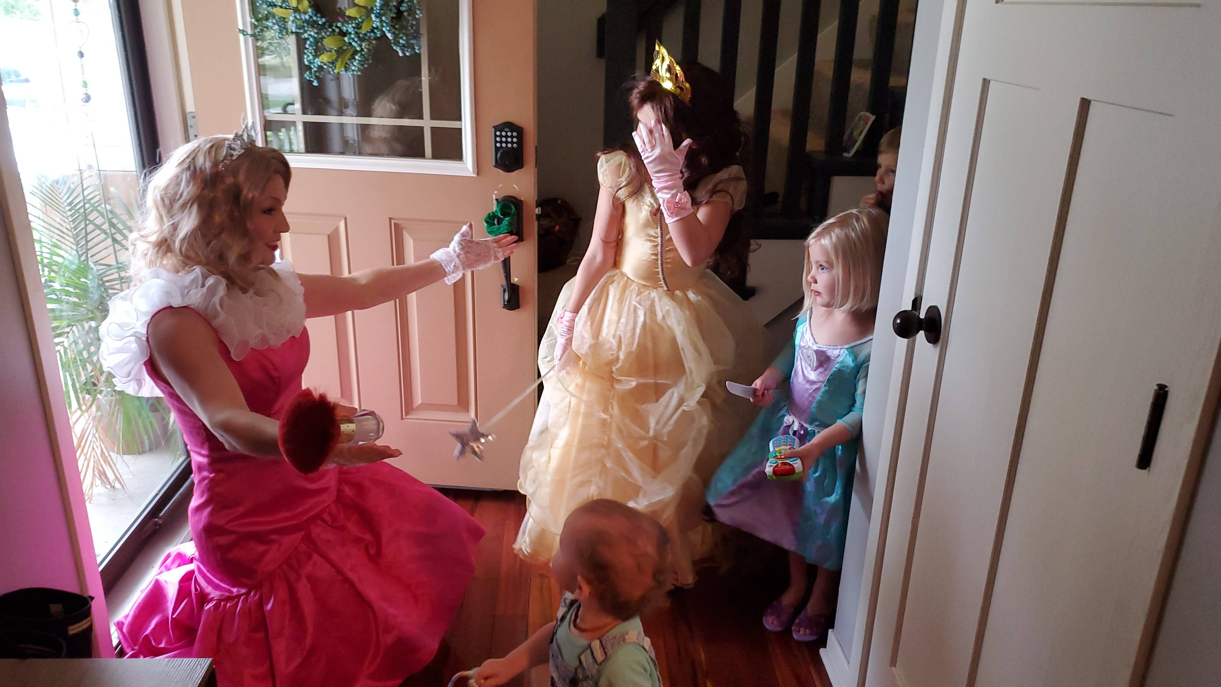 Our daughter pulled a knife on the hired princess at her 3rd birthday party.
