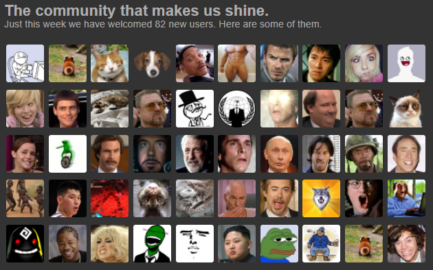 """""""the community that makes us shine"""" 223.000 active users and these are their faces :)))"""