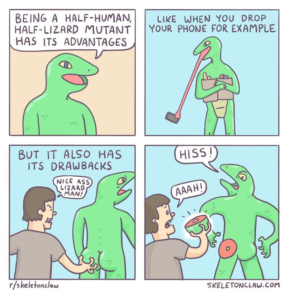 Life as a half-human, half-lizard mutant