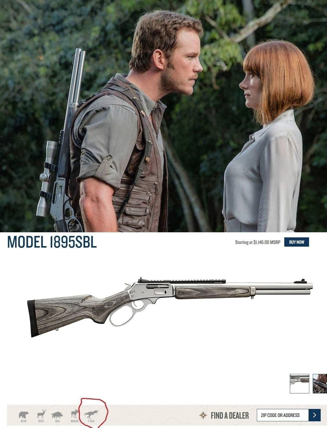Get the right type of guns for dinosaurs