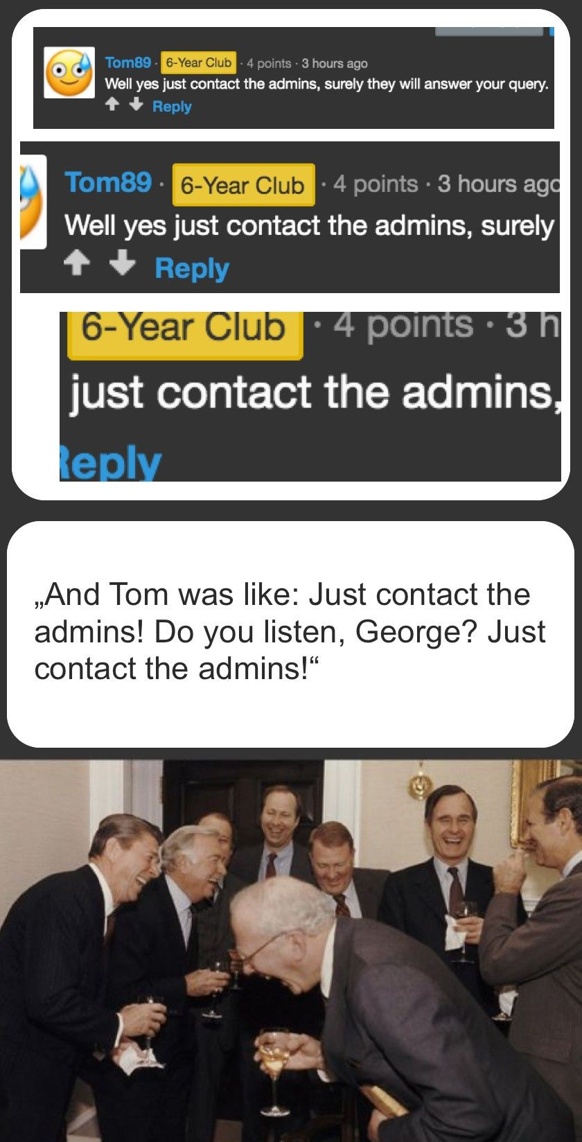 Tom must know because the admins are pussies