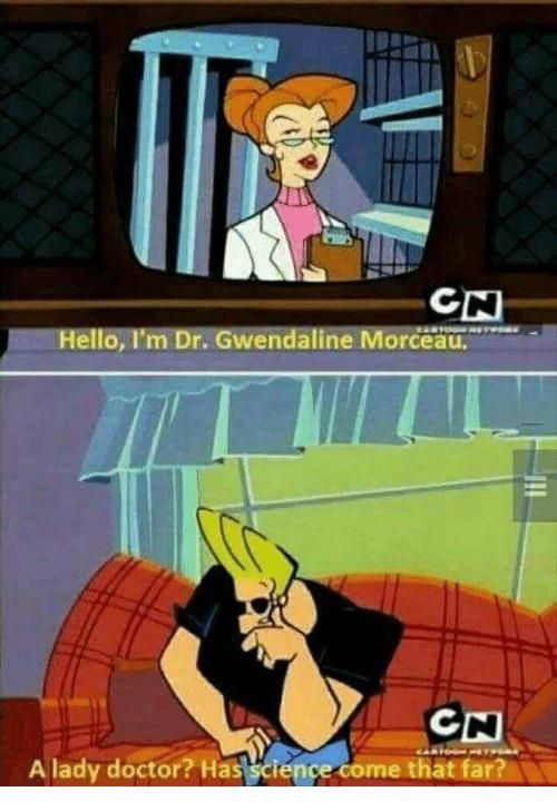 Oh the 90's, the Wild West where jokes like this wouldn't get your show canceled.