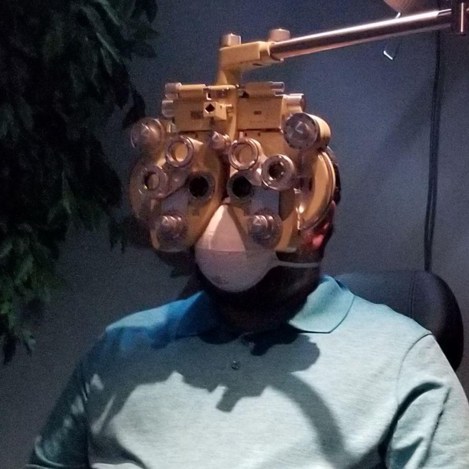 Took my husband to the eye doctor