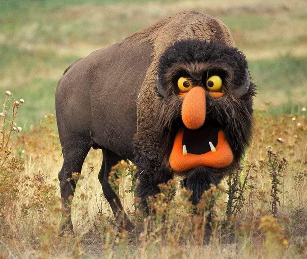 This deepfake muppet bison is here to brighten your day.