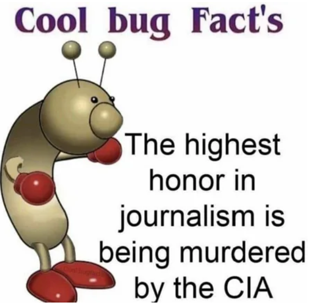 If CIA doesn't want to murder you, what are you even doing with your life fam
