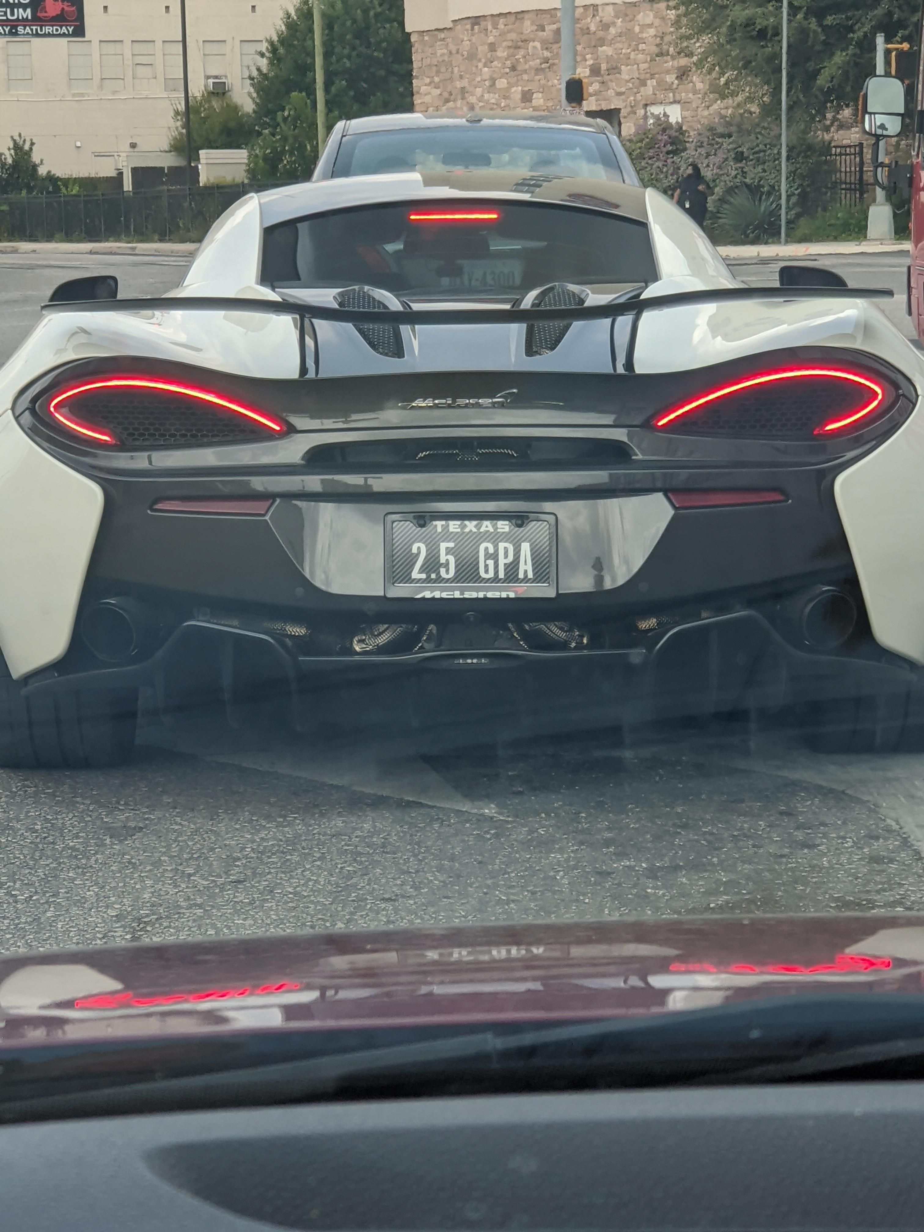 Sweet license plate on a McLaren I saw downtown