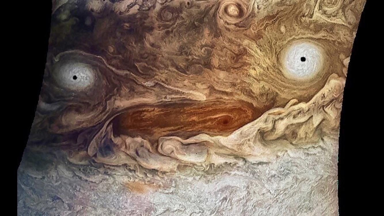 Jupiter, high on caffeine, sleep deprived, and doing its best to take care of 79 moons