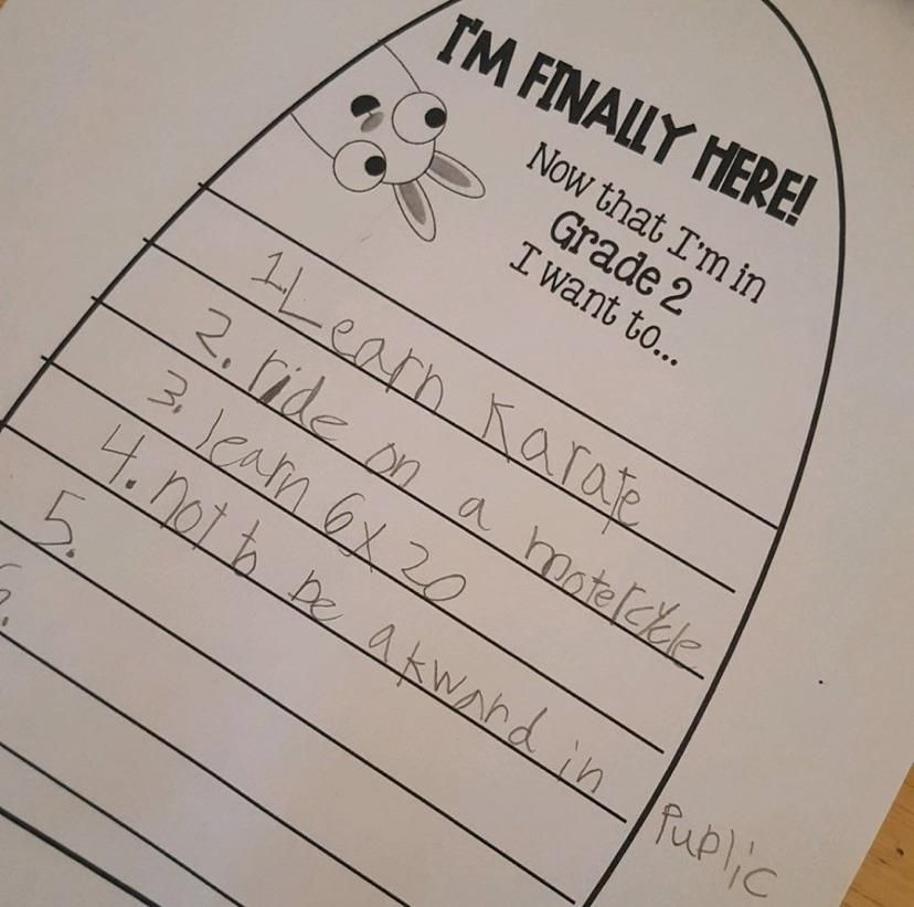 my friend's daughter set some lofty goals