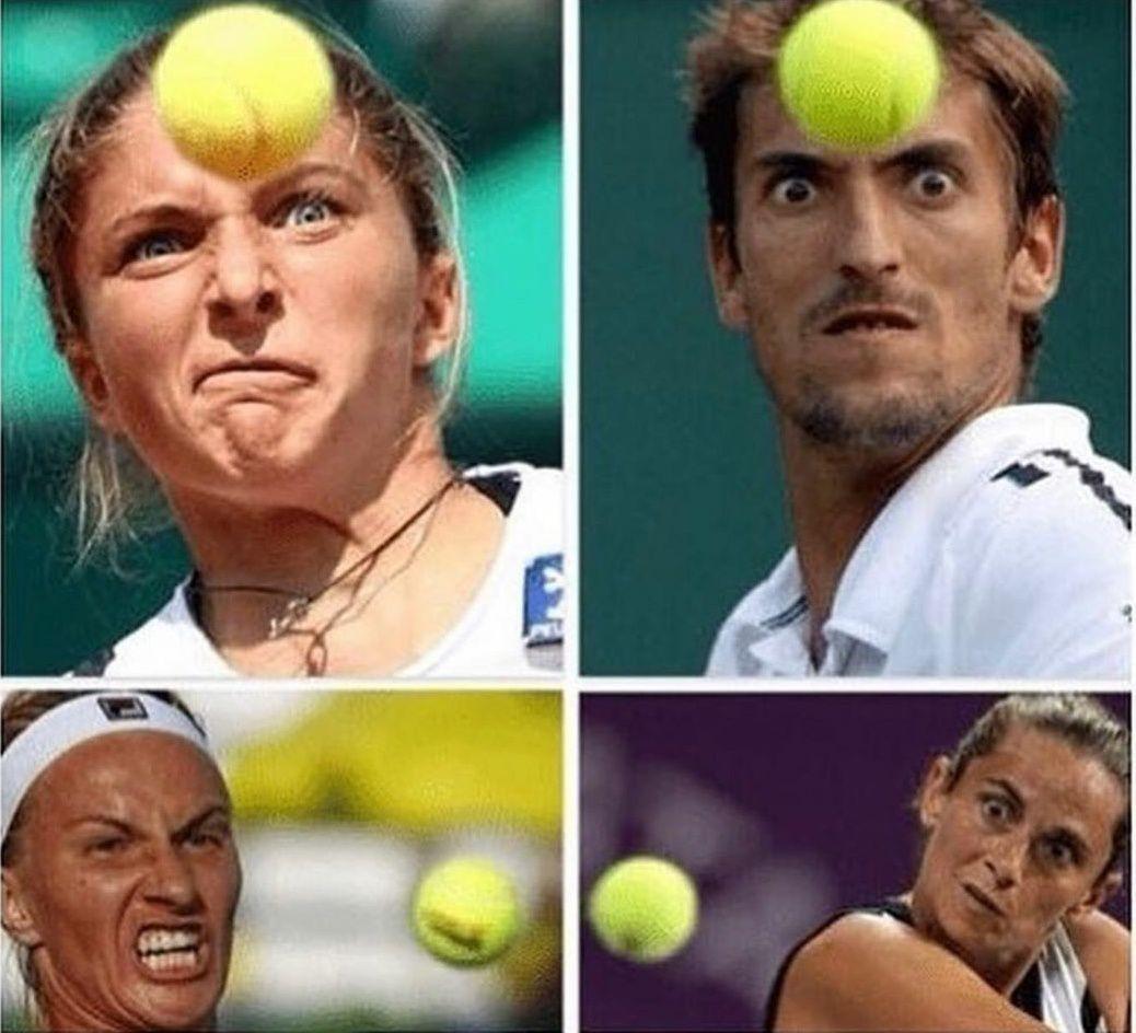 Tennis players using their telekinetic abilities