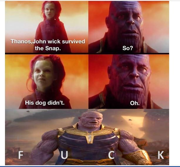 Thanos is done for