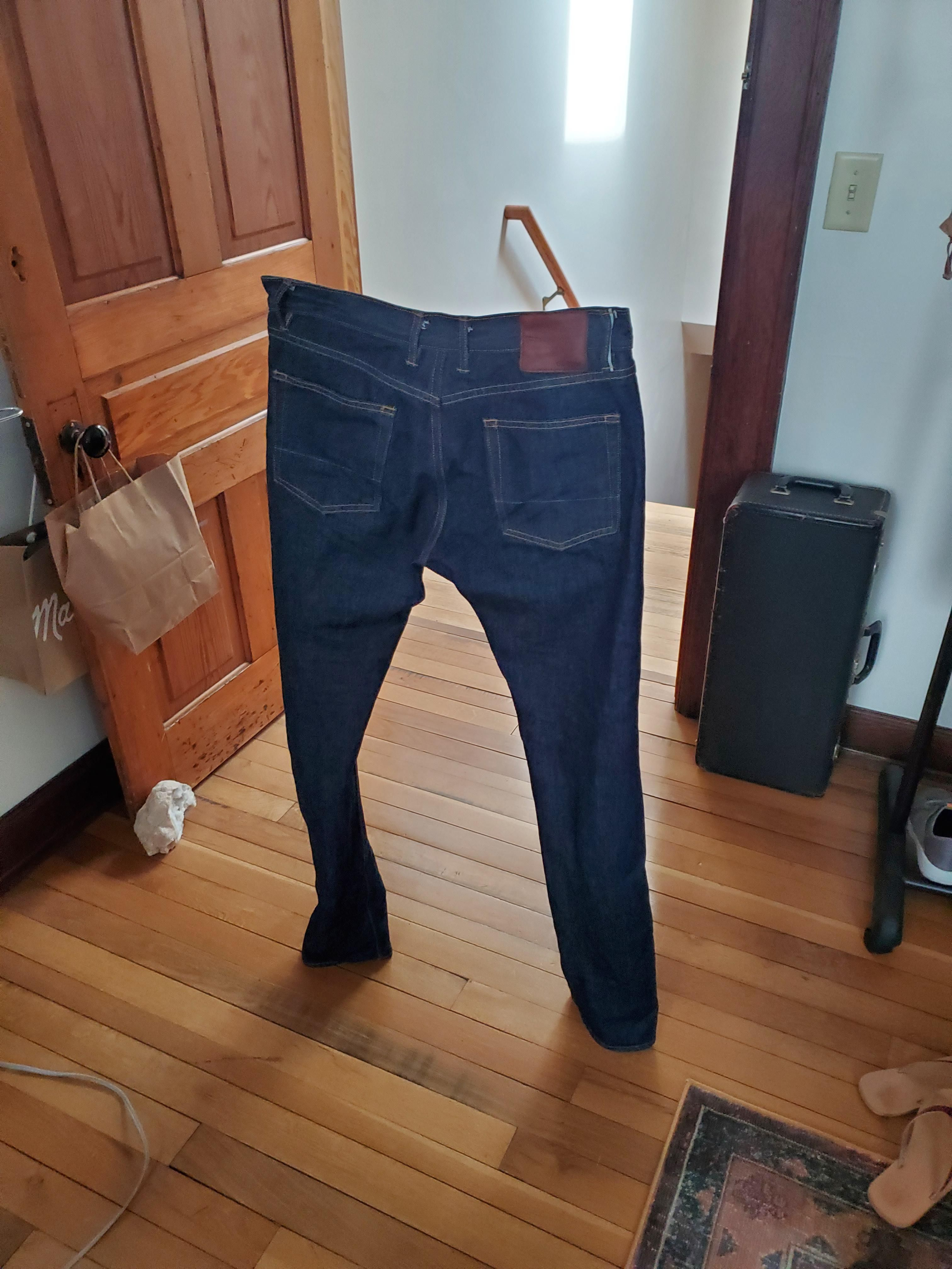 New pair of selvedge denim jeans. Ithink they still need to be broken in
