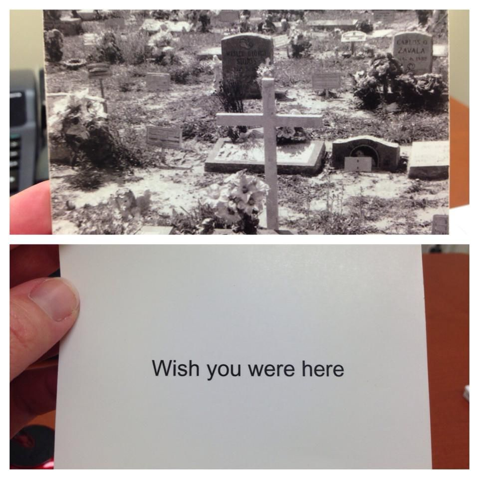 I still send nice greeting cards to my ex