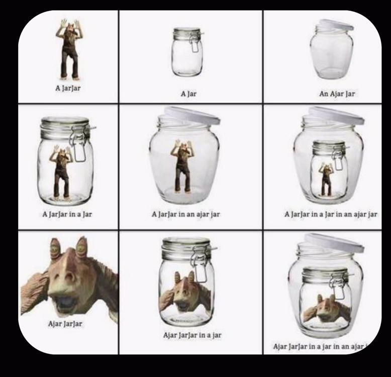 A jar jar in an ajar jar
