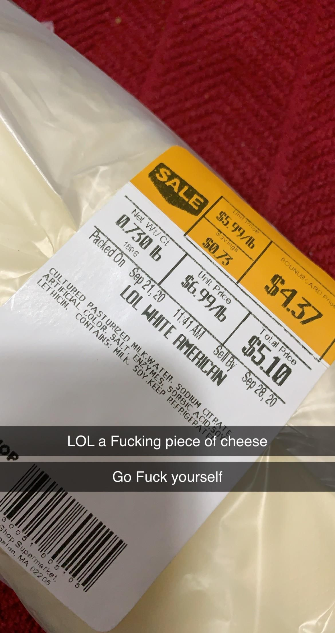 Got called out by deli cheese