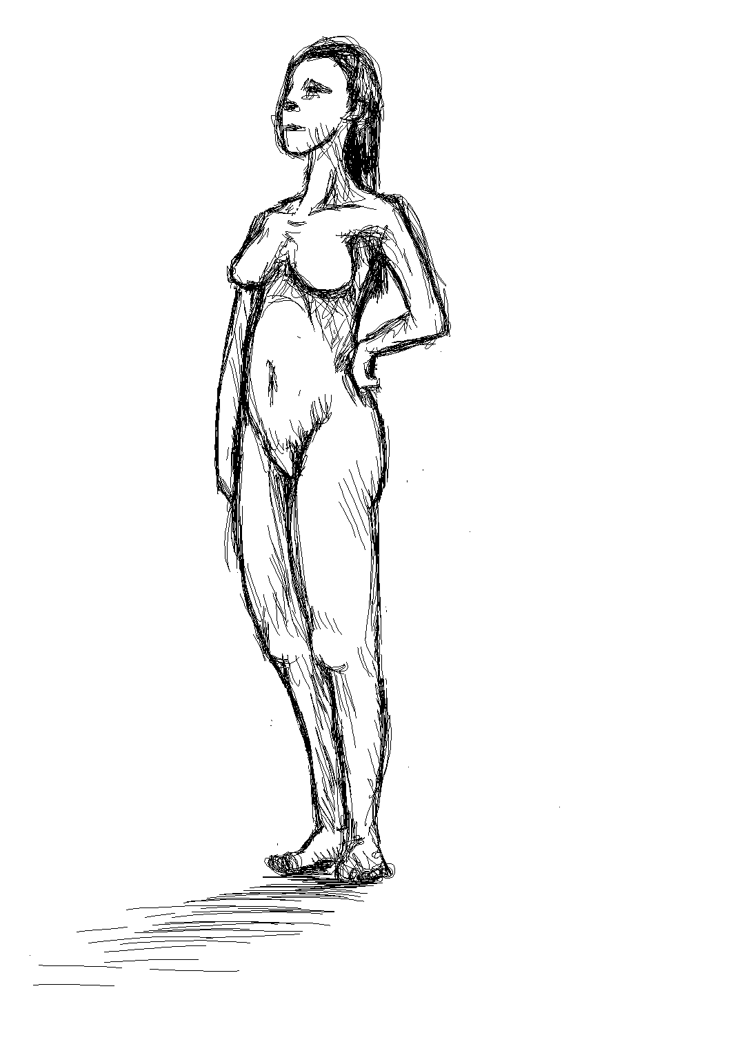 How do I draw a girl without being porn >¦-(