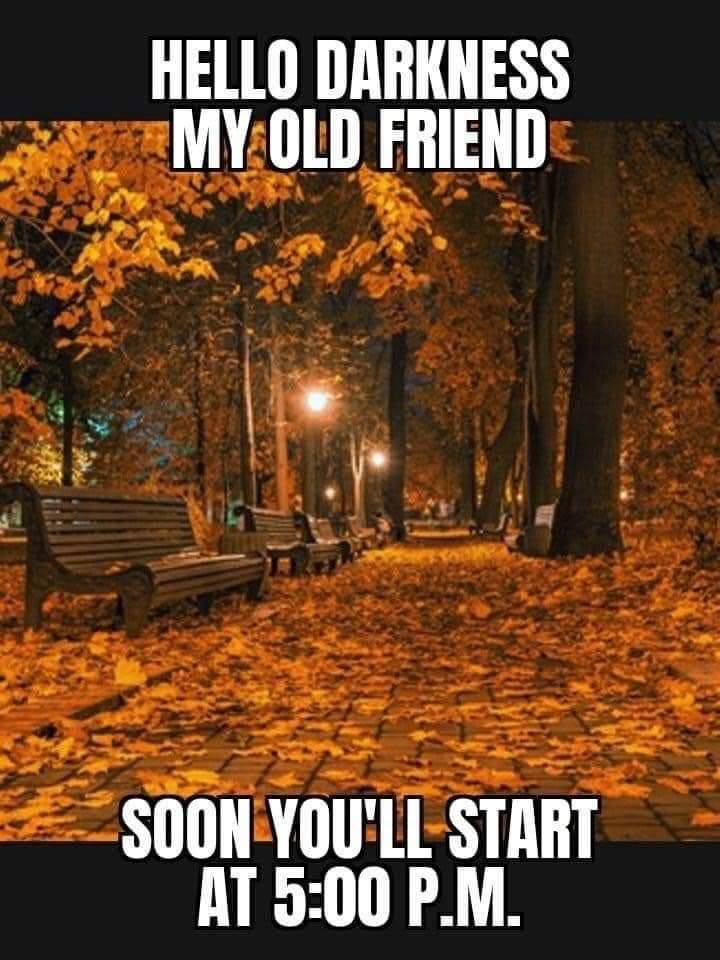 Fall is coming.