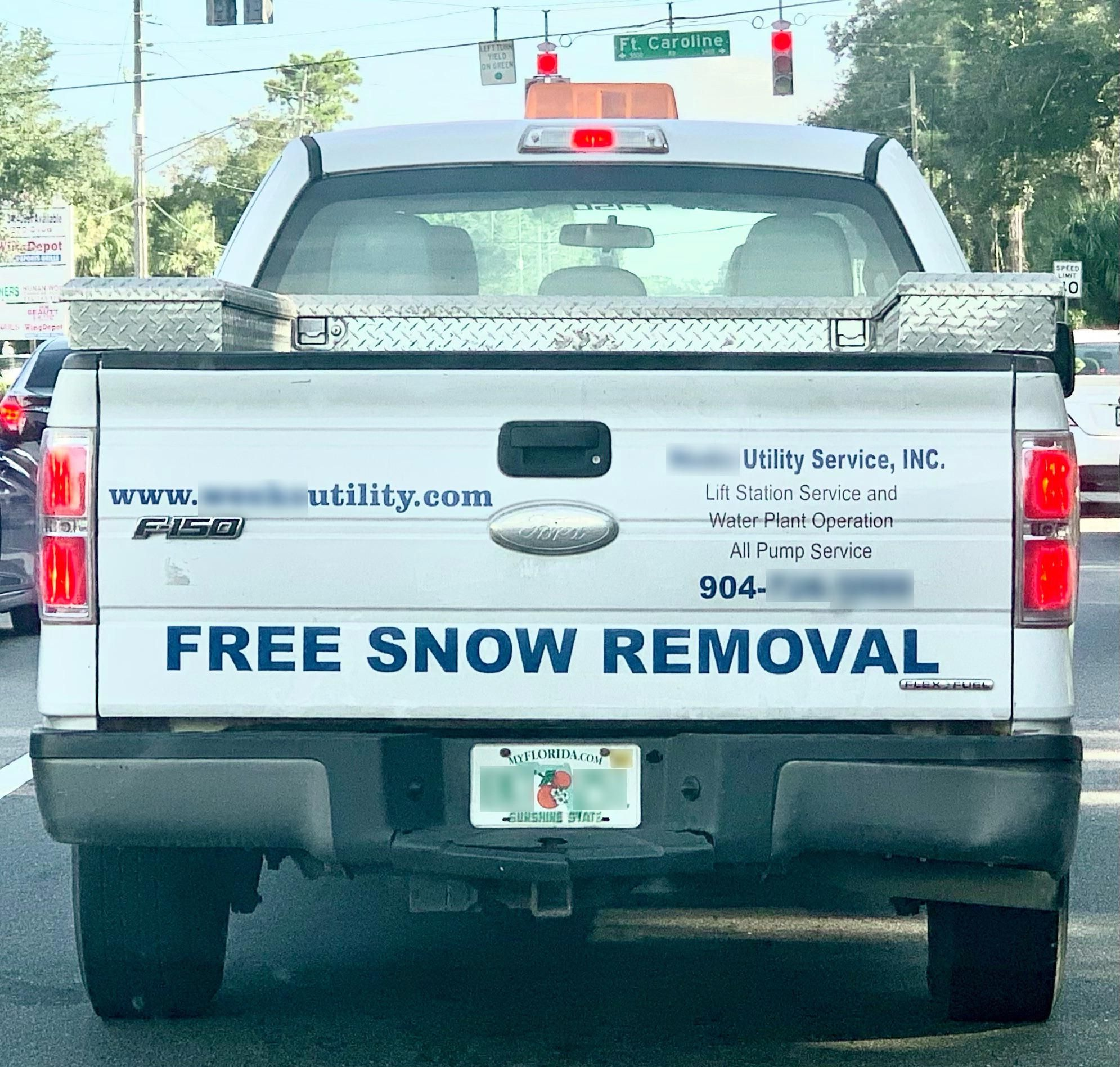 So happy for companies that offer free snow removal...in Florida