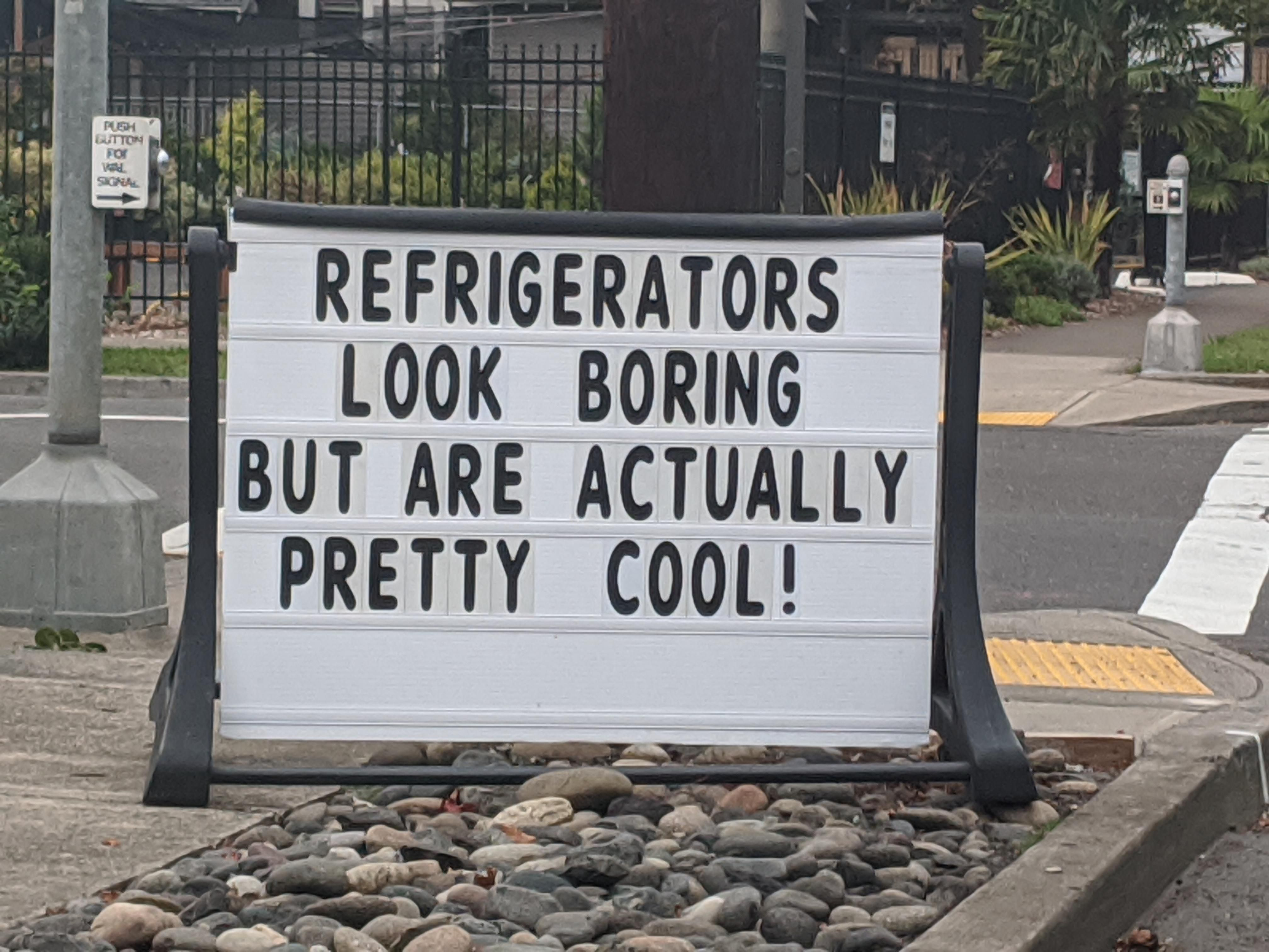 Seen yesterday outside of an appliance store