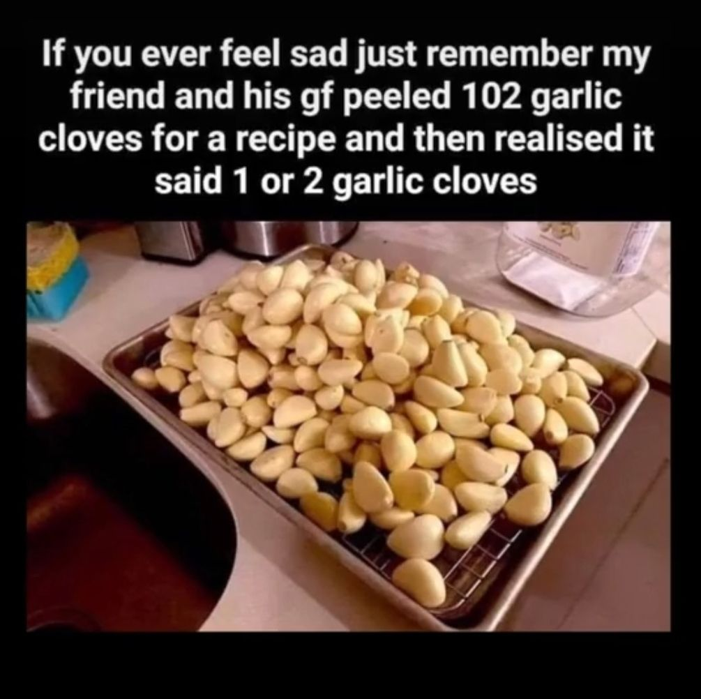 Always wear your reading glasses when following a recipe.