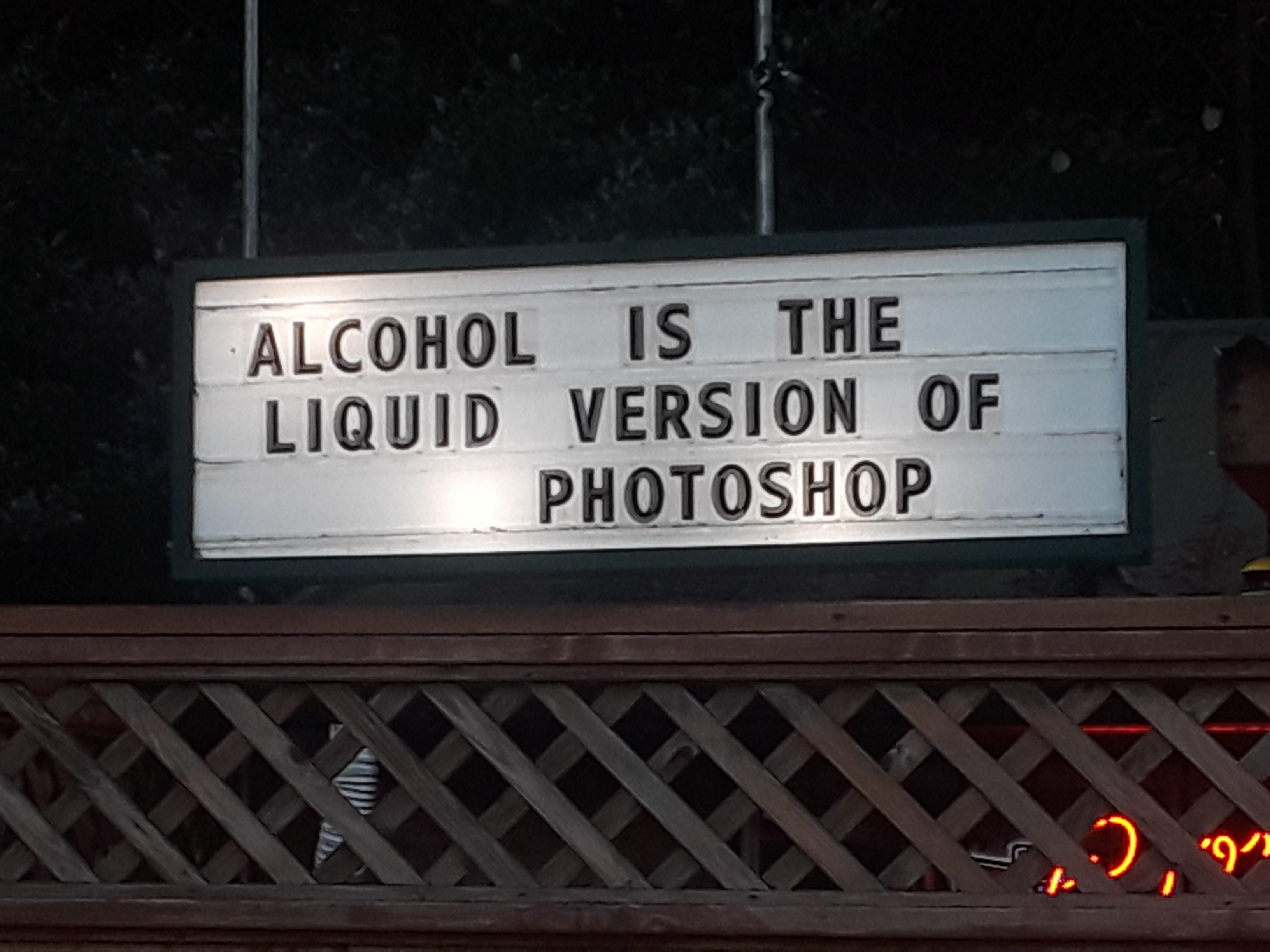 Saw this Bar sign on the way to a state park